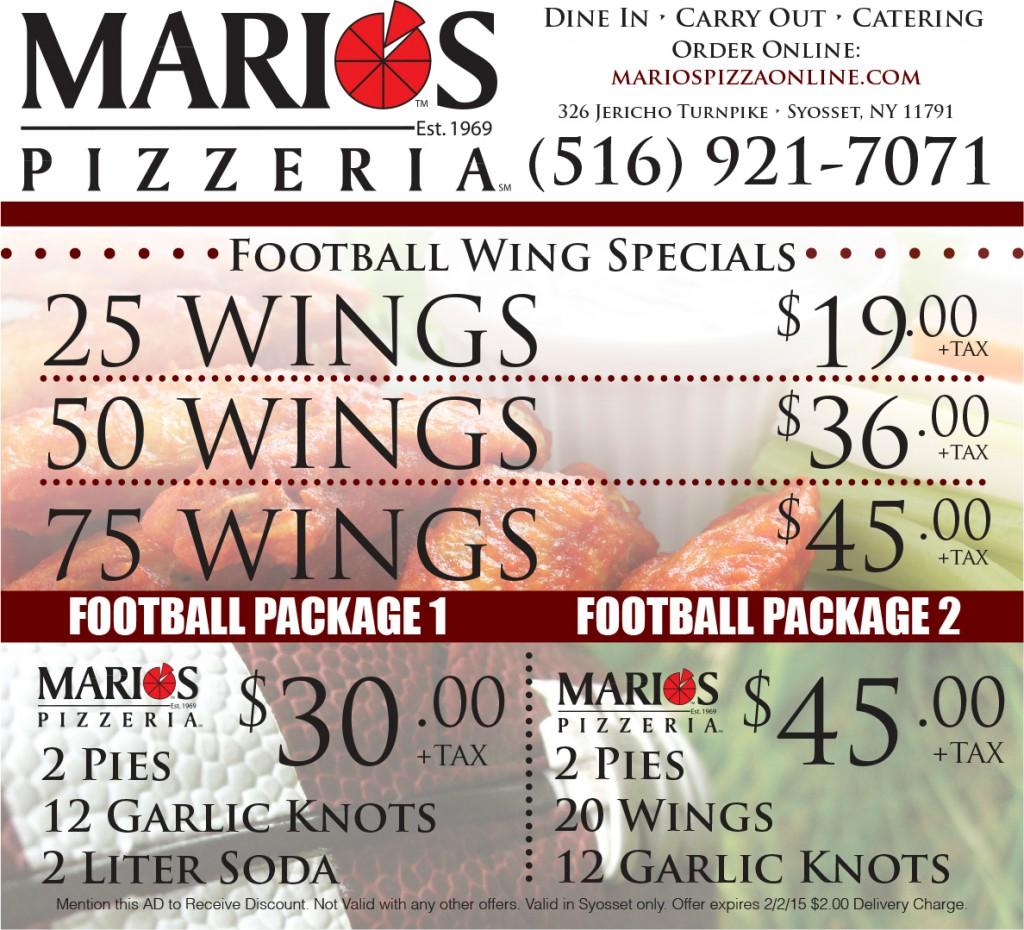 Marios coupons